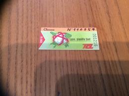 """Ticket De Transport (Bus, Métro, Tramway) TCL Abonnement """"JUIN 98 - CIGOGNE - Lyon, Planète Foot """" LYON (69) - Autobus"""