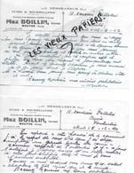 25 - Doubs - MOUTHE - Facture BOILLIN - Cuirs, Bourrellerie - 1940 - REF 128C - 1900 – 1949