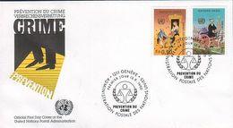 UN Genf Nr.190-191 FDC Kongreß Zur Verbrechensverhütung - FDC