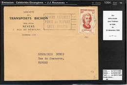 MAURY N° 1084: ROUSSEAU - S/LSI DU 22/12/1956 - Poststempel (Briefe)