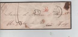 20PR/ Précurseur LSC C.Lille 1844 SR & 1.R Encadrés Port 8 > Strée C.d'arrivée Huy + Marque D'entrée France Par Mouscron - 1801-1848: Precursores XIX