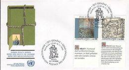 UN Genf Nr.192-193 FDC Menschenrechte - Deutsch - FDC