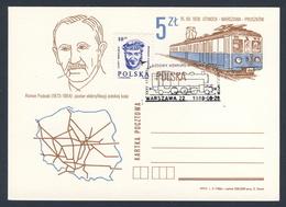 Poland Polska Polen 1988 Karte Card – XXXV. Int. Wettbewerbsausstellung Für Eisenbahnmodelle - Roman Podoski - Treni
