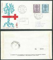1962 ITALIA FDC VENETIA 186 LOTTA CONTRO LA MALARIA TIMBRO DI ARRIVO - F.D.C.
