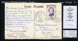 MAURY N° 1086: CHOPIN - S/CP BELGIQUE DU 1/2/1957 - Marcophilie (Lettres)