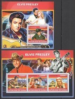 ST1358 2013 GUINEE GUINEA FAMOUS PEOPLE MUSIC LEGEND ELVIS PRESLEY KB+BL MNH - Elvis Presley