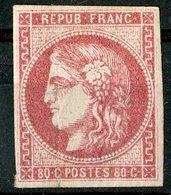 N°49 80ct Rose émission De Bordeaux Cote 725 €. Neuf Avec Gomme Partielle. Lire Description - 1870 Emission De Bordeaux