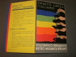 CARTONCINO PUBBLICITARIO COLORIFICIO BERGAMASCO PIETRO MIGLIAVACCA - Targhe Di Cartone