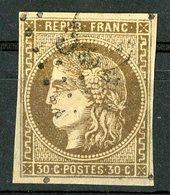 N°47 Cote 250 €. 30ct Brun. émission De Bordeaux. Lire Description - 1870 Emission De Bordeaux
