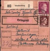 ! 1943 Paketkarte Deutsches Reich, Scheibenberg Nach Wolfen - Allemagne