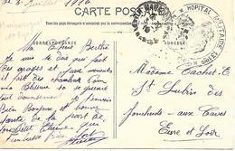 65-cachet Hôpital Militaire N°131 Bis à Maubourguet Sur CP En 1916 - Storia Postale