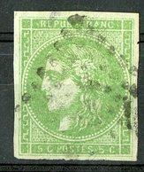 N°42B Cote 220 €. 5ct Vert. émission De Bordeaux. Lire Description - 1870 Emissione Di Bordeaux