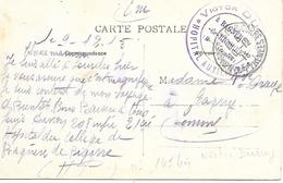 65-cachet Hôpital Aux. Victor Duruy (N°145 Bis) à Bagnères De Bigorre Sur CP En 1915 - Oorlog 1914-18