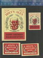 HOLT'S ALES DERBY BREWERY MANCHESTER - HOLT'S BOTTLED BEER Matchbox Labels Belgium (ref H66) - Boites D'allumettes - Etiquettes