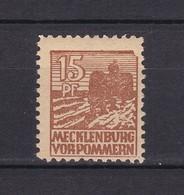 Mecklenburg-Vorpommern - 1946 - Michel Nr. 37 III - PF - Einfassung Unten Rechts Fehlt - Ungebr. - Sowjetische Zone (SBZ)