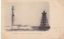 17. ROYAN.. CPA. RARETÉ. L'ANCIEN ET LE NOUVEAU PHARE DE LA COUBRE . ANNEE 1902 + TEXTE; - Sonstige Gemeinden