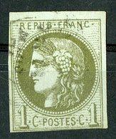 N°39B Cote 220 €. 1ct Olive Report 2. émission De Bordeaux. Lire Description - 1870 Emission De Bordeaux