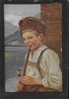 AK 0383  Louyot , Edm. - Vaters Pfeife / Künstlerkarte Um 1922 - Humorvolle Karten