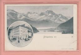 OUDE POSTKAART - ZWITSERLAND - SCHWEIZ - SUISSE - SILVAPLANA - HOTEL SONNE - GR Graubünden