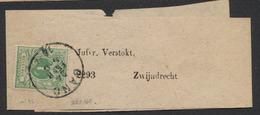 émission 1869 - N°26 Sur Bande Journal Expédié De Gand Vers Zwijndrecht - 1869-1888 Lying Lion