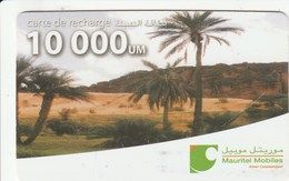 Mauritania - Mauritel - Palms In Landscape - Mauritanie