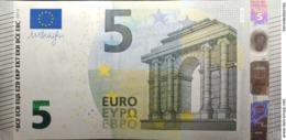 5 EURO SPAIN(VB) V013 DRAGHI, UNCIRCULATED, First Code VB - 5 Euro