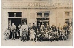 Allier VICHY Carte-photo Restaurant Hôtel De Tours Prop. A. Genoud (belle Animation) - Vichy