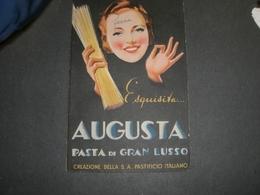 CARTONCINO PUBBLICITARIO PASTA AUGUSTA PASTIFICIO ITALIANO - Targhe Di Cartone
