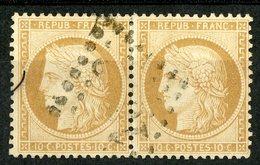 PAIRE DU N°36 Cote 240 €. 10ct Bistre-jaune. émission Siège De Paris. TB - 1870 Assedio Di Parigi