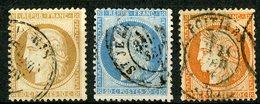 N°36 + N° 37 + N° 38 Cote 145 €. émission Siège De Paris. Les Trois Oblitérés Par Le Cachet à Date. TB - 1870 Assedio Di Parigi
