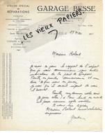 21 - Côte-d'or - IS-SUR-TILLE - Facture BESSE - Garage - Agent CHENARD & WALKER, DELAHAYE, ROSENGART - 1931 - REF 128D - France