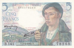 "Billet 5 Francs "" BERGER "" 05/04/1945 - 1871-1952 Circulated During XXth"