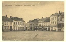 A0477[Postkaart] Iseghem. - Groote Markt (Noord-Oost Hoek) (Strobbe-Hoornaert) [Izegem Grote Den Hert] - Izegem