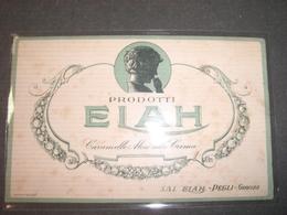 BIGLIETTO PRODOTTI ELAH GENOVA - Cioccolato