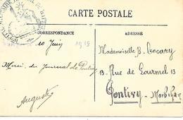 65-cachet Hôpital Militaire Thermal De Barèges Sur CP En 1915 - Marcofilie (Brieven)