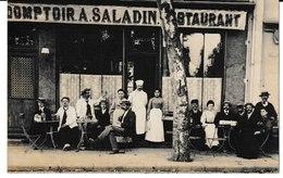 Allier VICHY Comptoir A. Saladin Restaurant Carte-photo Belle Animation - Vichy