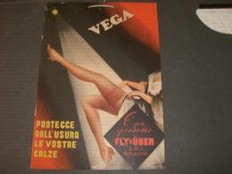 CARTONCINO PUBBLICITARIO CALZE VEGA - Targhe Di Cartone