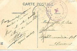 65-cachet Hôpital Aux.-Villa Moderne-Bains Bales à Cadéac-les-Bains (HB N°160 Bis) Sur CP En 1915-cachet Rare - Marcofilie (Brieven)