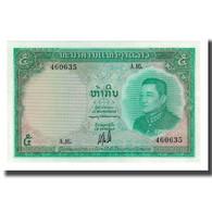 Billet, Lao, 5 Kip, Undated (1962), KM:9b, NEUF - Laos