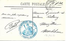 65-cachet Hôpital Temp.-Ambulance Bon Vouloir (HB N°146 Bis) à Bagnères De Bigorre Sur CP En 1917 - Storia Postale