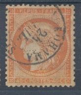 N°38 OBLITERATION  ETRANGERE - 1870 Besetzung Von Paris