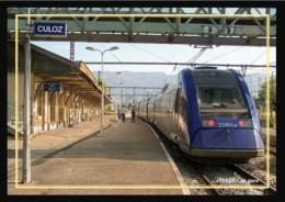 01  CULOZ  .....  La  Gare  .... Les  Quais + Train - Autres Communes