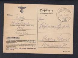 Dt. Reich Feldpost PK Wehrmachtmanöver 1937 Demmin Nach Schwerin - Briefe U. Dokumente
