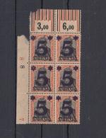 Danzig 6er Block Aufdrucke Postfrisch/Mängel - Germania