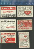 AMSTEL BIER FLIPTOPPER 1965 Dutch Matchbox Labels ( BEER ALE BIÈRE ) - Boites D'allumettes - Etiquettes