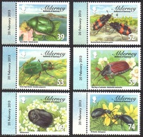 GB Alderney Aurigny 0466/71 Insectes - Non Classés