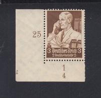 Dt. Reich 3 Pf. Eckrand Postfrisch - Germany