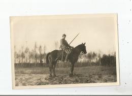 RAMBOUILLET (78) PHOTO MILITAIRE A CHEVAL  ECOLE DE CAVALERIE  OCTOBRE  1917 - Krieg, Militär