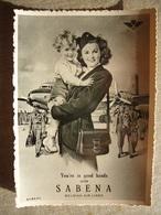 Avion / Airplane /  SABENA / Douglas DC-6 / Air Hostess / Airline Issue - 1946-....: Ere Moderne