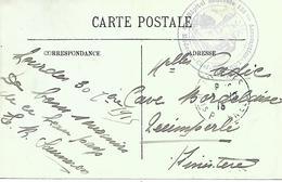65-cachet Hôpital Bénévole N°136 Bis Assomptionà Lourdes Sur CP En 1915 - Oorlog 1914-18